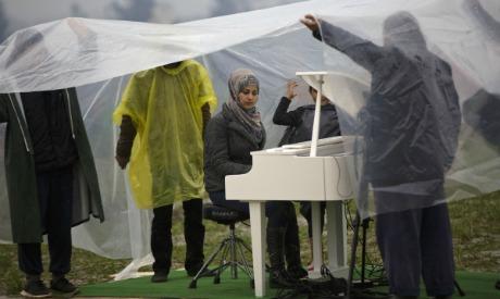 Syrian pianist Nour Alkhzam