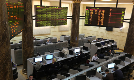 Traders work at the Egyptian stock exchange in Cairo, Egypt, March 8, 2016. (Reuters)