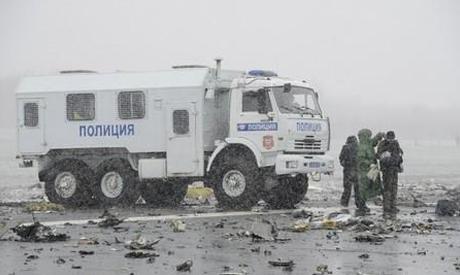 FlyDubai plane crash site