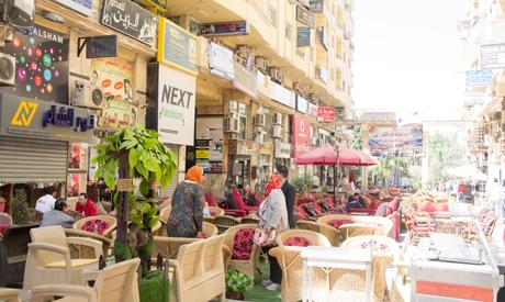 Syrian street in October