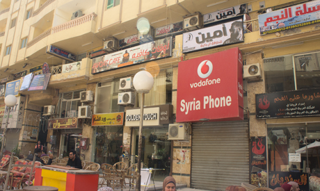Shops at the Syrian street in October