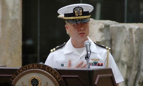 US Navy Lt. Edward Lin