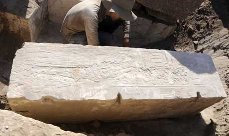 Decorative blocks from sacred barque's way station found in Aswan - Ancient Egypt - Heritage