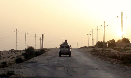 Army vehicle in North Sinai