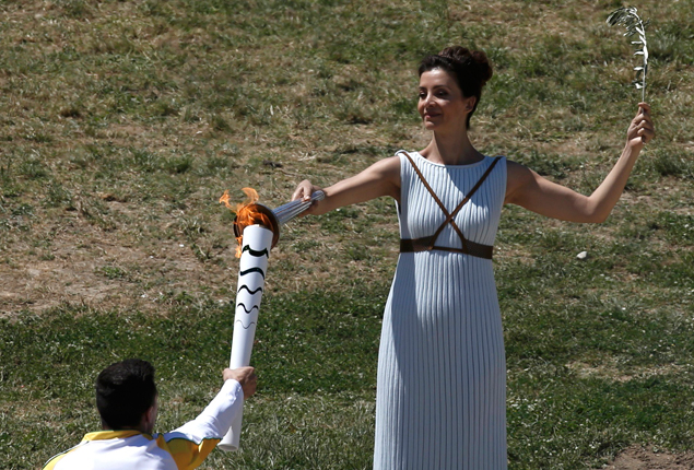 Picture of the day: Olympic flame lighting ceremony in Greece for Rio 2016