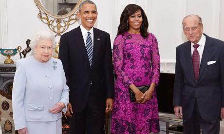Queen Elizabeth II & Obama