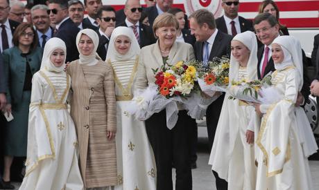 Merkel in Turkey