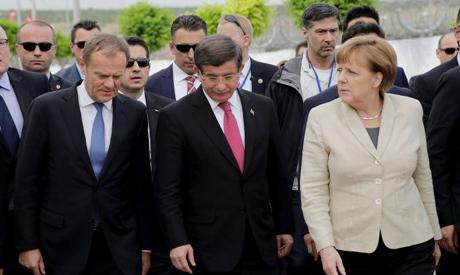 Merkel, Tusk, Davutoglu