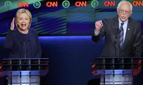 Clinton, Sanders