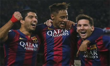 Luis Suarez, Neymar and Lionel Messi