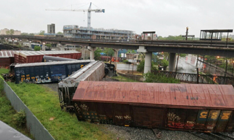train derailed in Washington