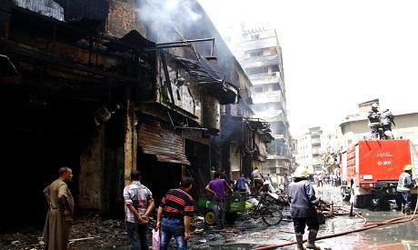 Torched shops