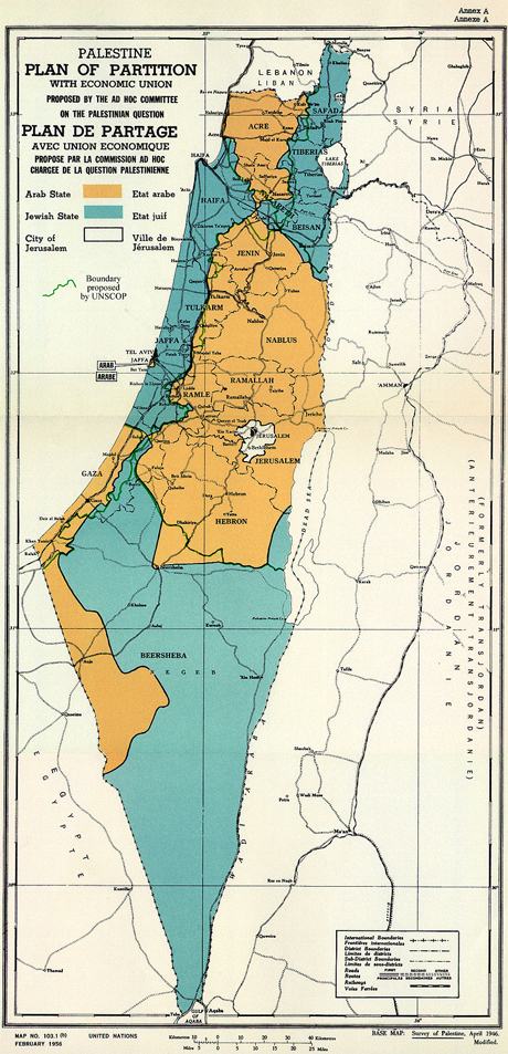 UN Partition Plan for Palestine