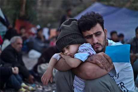 Syrian refugee in Greece
