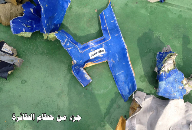 PHOTO GALLERY: Egyptian army posts pictures of EgyptAir MS804 debris retrieved from Mediterranean