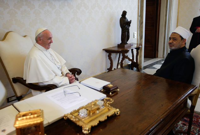 PHOTO GALLERY: In a first, Pope Francis to receive grand imam of Egypt