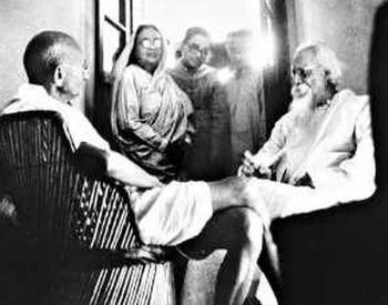 Tagore and Gandhi