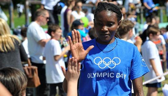 Kenya-born Bosnian marathon runner Lucia Kimani