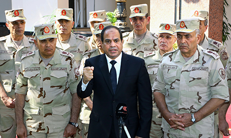 El-Sisi and army commanders
