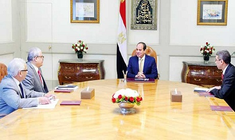 Pres Sisi editors in chief