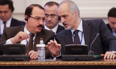 Bashar Jaafari and a member of the Syrian delegation