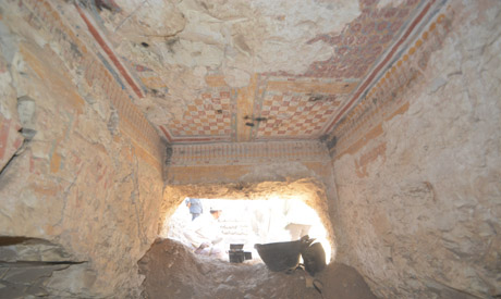 Uncovered Ramesside-era tomb