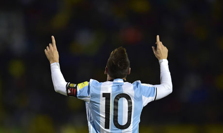 Argentinian forward Lionel Messi (AFP)