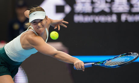 Sharapova moves to WTA final round