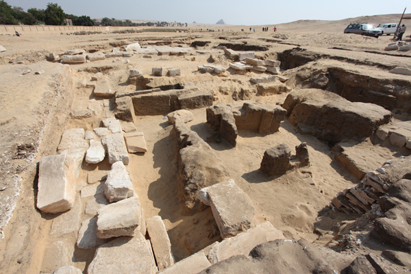 Parts of a Ramses II temple uncovered in Giza's Abusir - Ancient Egypt - Heritage