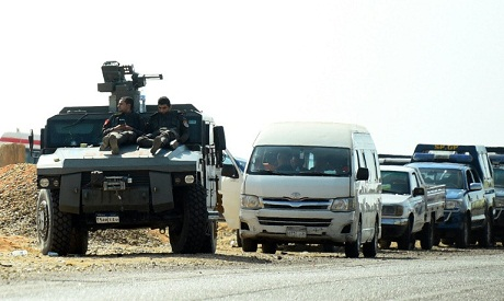 Egypt Security Forces in western desert
