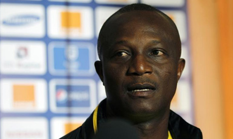 Ghana's national soccer coach Kwesi Appiah addresses a news conference in Nelspruit