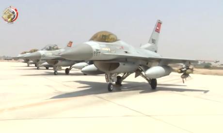 Egypt air forces strikes