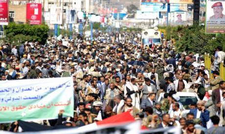 Yemenis protesters