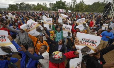 Zimbabweans protesters