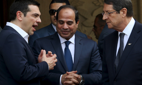 Sisi, Anastasiades, and Tsipras