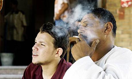 Egyptians smoking