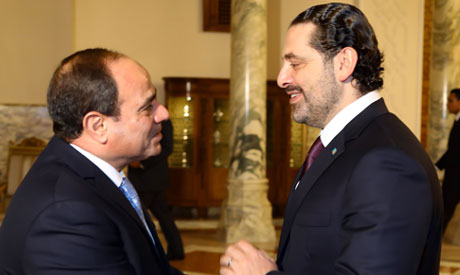 Lebanon's Al-Hariri arrives in Cairo for talks with Sisi