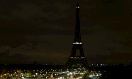 Paris Eiffel Tower in solidarity with Egypt