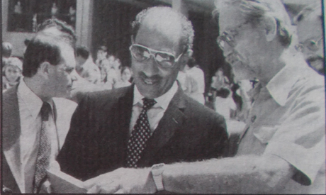 Sadat visit , 1981( Photo: courtesy of DEO)