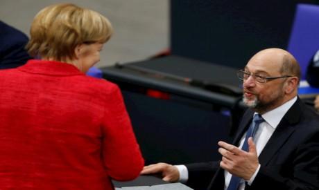 Merkel , Schulz