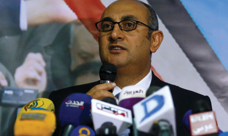 Egyptian human rights lawyer and opposition leader Khaled Ali