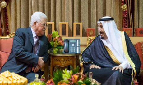 King Salman, Mahmoud Abbas