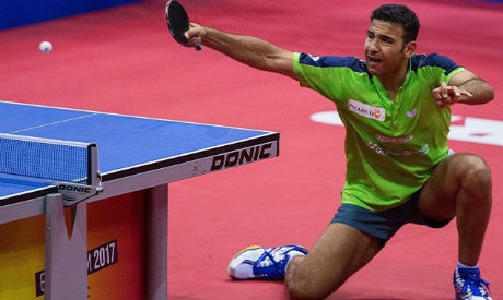 Egyptian table tennis player omar assar sets new african - African table tennis federation ...