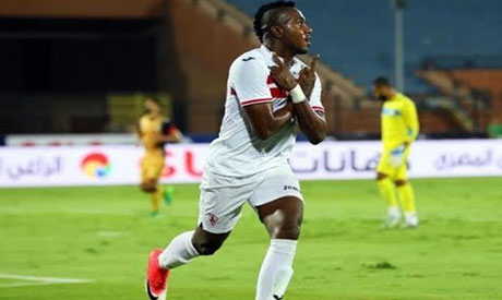 Zamalek striker Kasongo Kabongo (Al-Ahram)