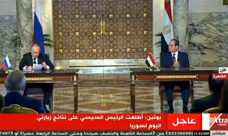 Russia's Vladimir Putin, Egypt's Sisi discuss nuclear deal, Middle East tensions