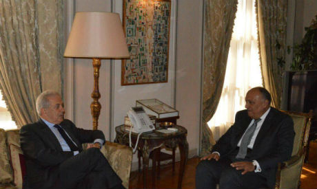FM Shoukry and EU Commissioner Avramopoulos