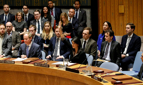 US Vetos UNSC Resolution Criticising Trump's Jerusalem Decision