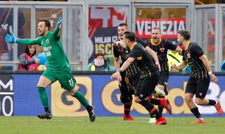 Milan upset by point-less Benevento in nightmare Gattuso debut