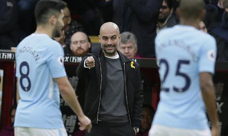 Manchester City manager Pep Guardiola (AP)