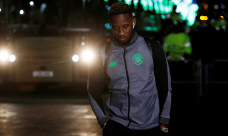 Moussa Dembele arrives at the stadium before the game (Reuters)